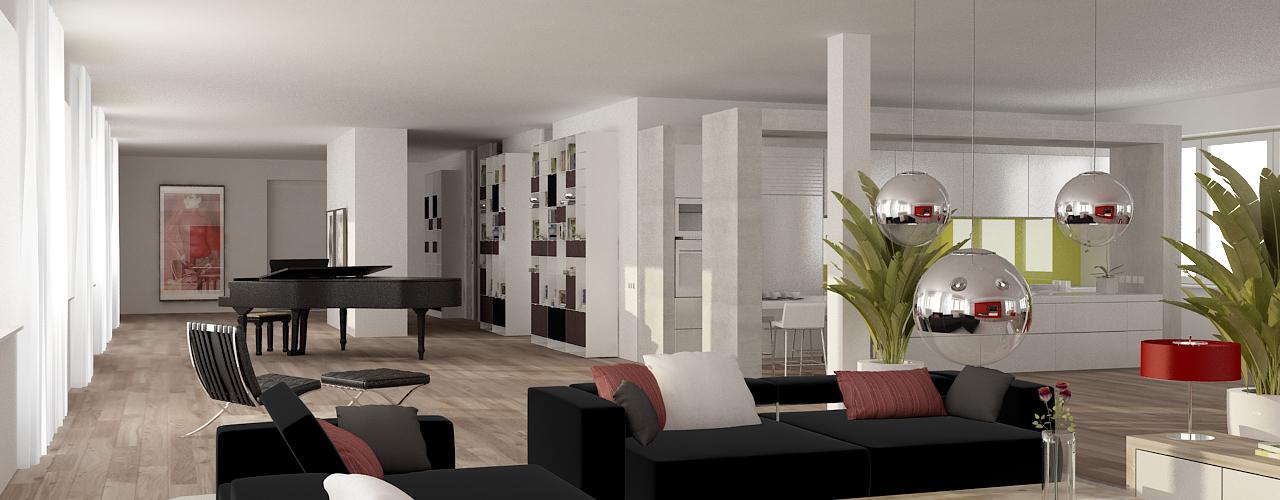 friedel lofts die grundrisse. Black Bedroom Furniture Sets. Home Design Ideas